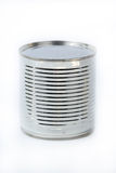 Can of sweetened condensed milk. Isolate on white background Royalty Free Stock Photography