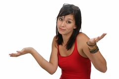 Can't Answer Gesture Stock Image
