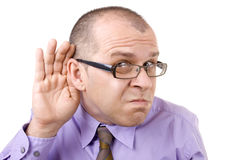 Can't hear! Royalty Free Stock Photography