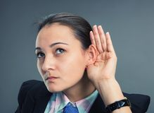 Can't hear Royalty Free Stock Photo