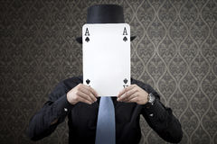 Can't See My Poker Face Royalty Free Stock Image