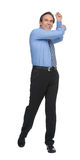 Can't wait playing golf. Mature businessman imitating the golf p Stock Photo