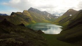 Hraunvatn lake is in North Iceland.