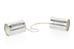 Can telephone. On white, clipping path included Stock Photography
