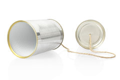 Can telephone. On white, clipping path included Royalty Free Stock Image