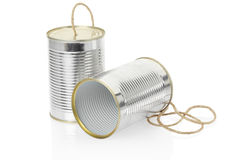 Can telephone. On white, clipping path included Stock Photo