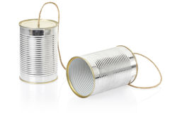 Can telephone. On white, clipping path included Stock Image