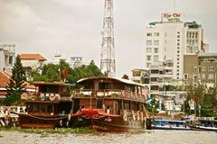 Can Tho в перепаде Меконга, Вьетнам Стоковые Фото