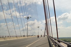 Can Tho Bridge. A big and large cable bridge names Can Tho, southern of Vietnam Royalty Free Stock Images