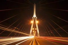 Can Tho Bridge, Vietnam. Night view Stock Image