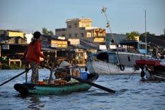 Cai Rang floating market, Can Tho, Mekong delta, Vietnam Royalty Free Stock Images