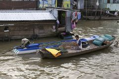 Can Tho Floating House Vietnam Royalty Free Stock Photos
