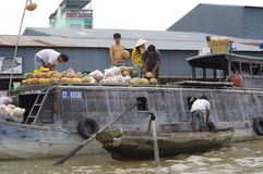 Can Tho floating market in Mekong Delta Royalty Free Stock Photography