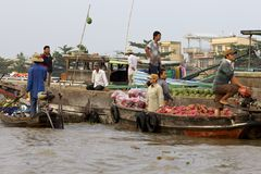 Can Tho Floating Market Vietnam Royalty Free Stock Photography