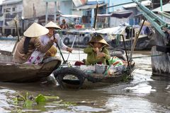 Can Tho Floating Market Vietnam Stock Photo