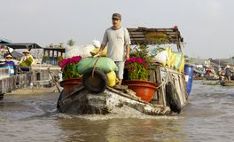 Can Tho Floating Market Vietnam Royalty Free Stock Photos