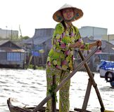 Can Tho Floating Market Vietnam Royalty Free Stock Photo