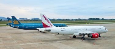 Can Tho international airport, Vietnam -  Vietnam airlines Stock Image