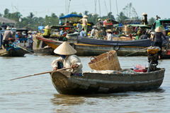 Can Tho  Mekong market Stock Image