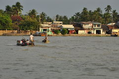 Can Tho, Vietnam. Boats on the Mekong river stock image