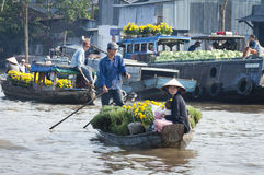 Can Tho Floating Market, Vietnam Royalty Free Stock Photos