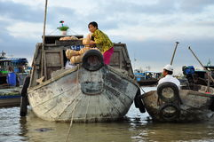 Can Tho, Vietnam. Market boats in the Mekong delta royalty free stock photos