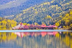 Can 0102-12 Three Valley Lake Chateau royalty free stock image