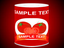 Can with tomatoes Royalty Free Stock Photos