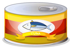 A can of tuna. Illustration of a can of tuna on a white background Royalty Free Stock Image