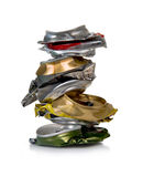 Can walking for recycling, . Royalty Free Stock Image
