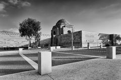 CAN War Memorial side day BW Royalty Free Stock Photos