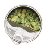Can of Wasabi Peas Stock Photography