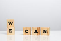 We Can on wooden blocks Stock Photography