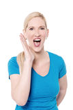 Can you hear me ? Royalty Free Stock Photo