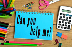 Can you help me? Royalty Free Stock Image