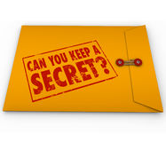 Can You Keep a Secret Yellow Envelope Stamp Stock Photos