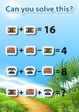 Can you solve this maths problem. Illustration stock illustration