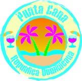 cana多米尼加共和国的punta共和国 例证,图形设计 库存例证