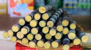 Cana-de-açúcar - alimento da rua Foto de Stock