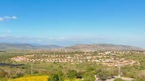 Cana Jesus Trail, Zippori nationalpark, Israel Arkivbilder