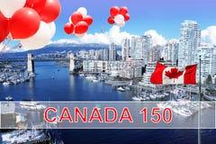 Canadá 150 imagem de stock