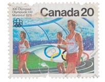 CANADÁ - CIRCA 1976: un sello impreso en las demostraciones Canadia fotos de archivo libres de regalías