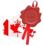 Canadá com amor ilustração do vetor