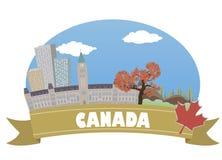 canadá con el foco en los prismáticos Imágenes de archivo libres de regalías