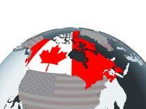 Canadá con la bandera en el globo libre illustration
