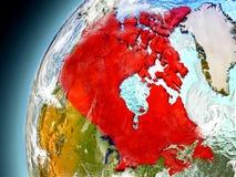 Canadá de la órbita de Earth modelo Imagen de archivo