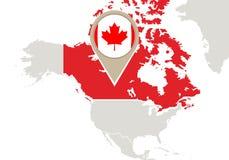 Canadá en mapa del mundo