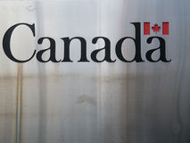Canadá grabó en el metal Fotos de archivo libres de regalías