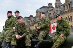 Canadá honra a los veteranos que desempeñaron servicios en Afganistán fotografía de archivo libre de regalías