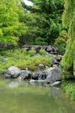 Canadá, jardim japonês no jardim botânico de Montreal Foto de Stock Royalty Free